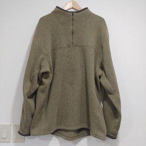 SIMMS Men's Sage Green 1/4 Zip Heavy Weight Fleece Pullover XL